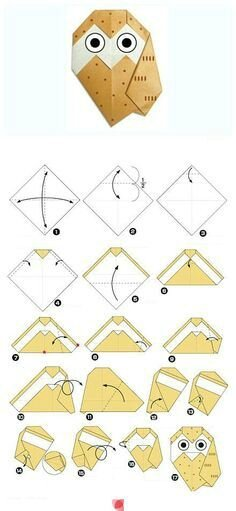 chouette origami