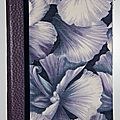 porte bloc fleurs bleu