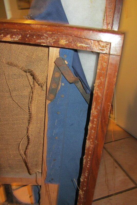 refaire un fauteuil art deco tapissier à Brest