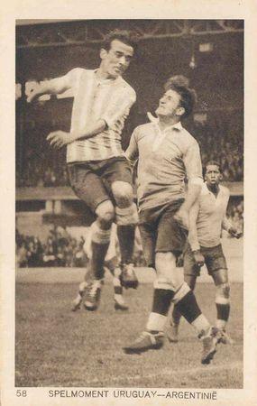 CPA Match Foot Uruguay Argentine 1928