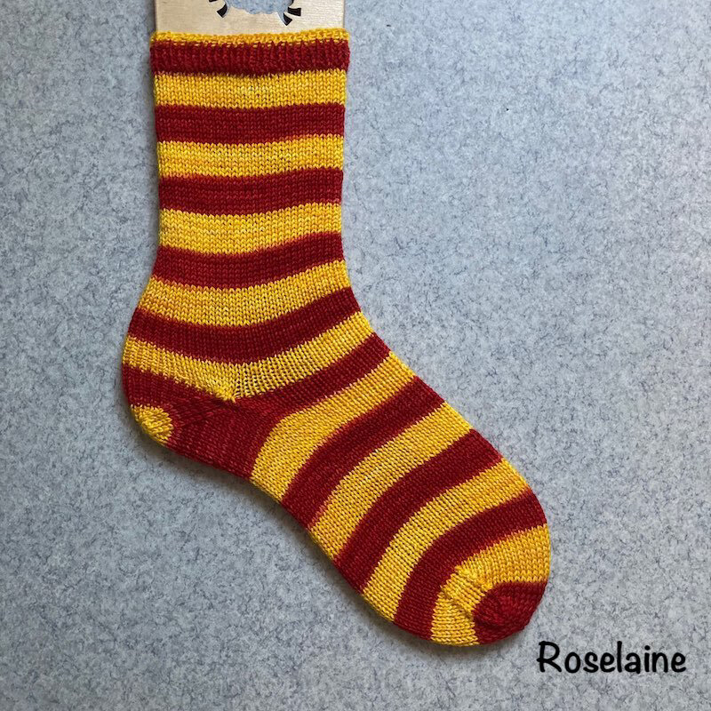 Roselaine Chaussettes Harry Potter Laines Biscottes Tricot Socks 2