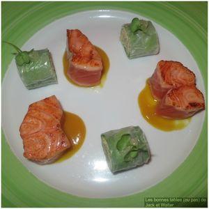 Saumon snacké sushi de légumes et pamplemousse (1)