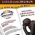 Salon du livre mons (belgique) les 21 et 22 novembre 2015