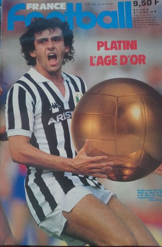 27 décembre 1983 PLATINI BALLON D'OR