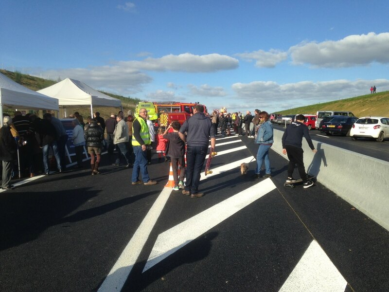 contournement routier rocade Sartilly inauguration public 25 octobre 2015 SDIS DDTM