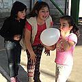 Animándose par inflar el globo