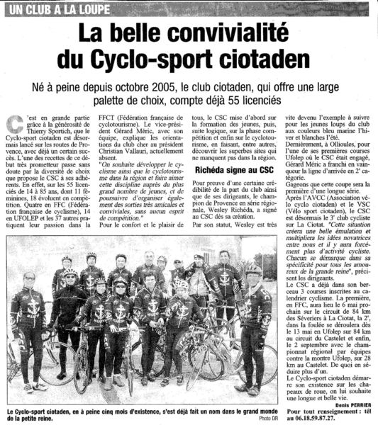 1er Article CSC 2006