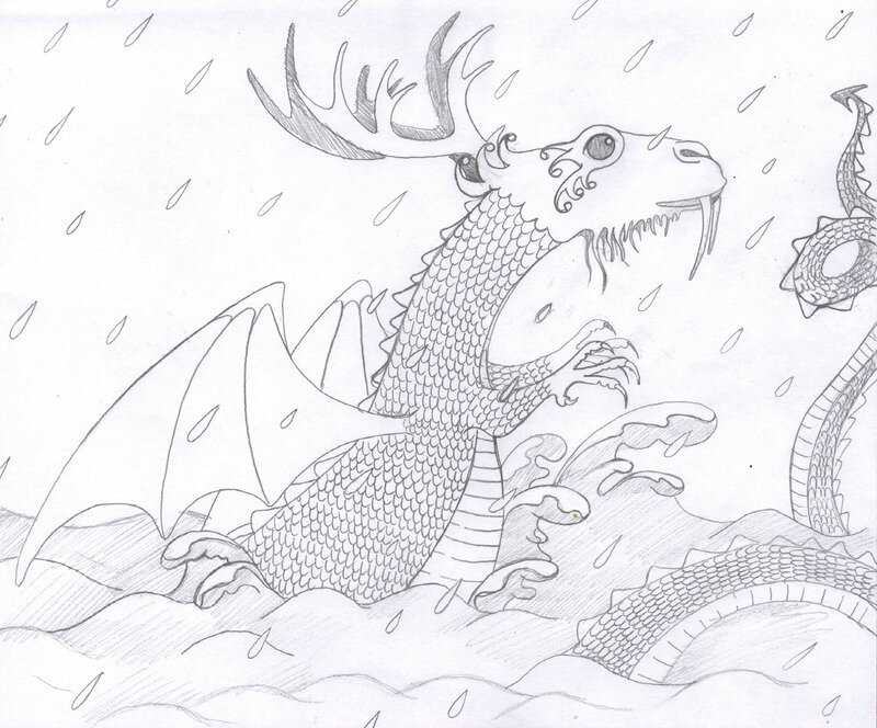 croquis dragon