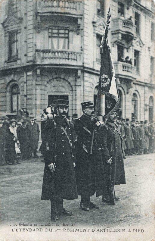 Belfort 1913 01 21 CPA Cérémonie remise de médaille Recto