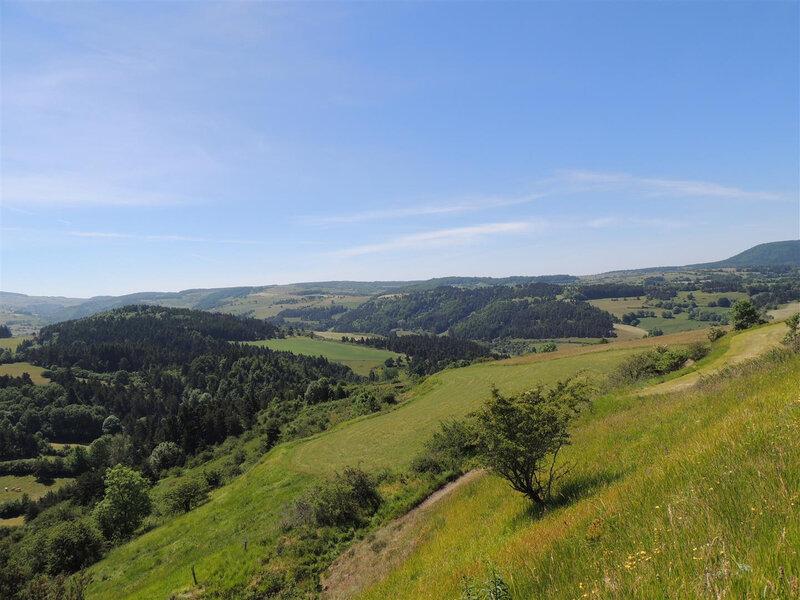 Paysage et monts d'Auvergne