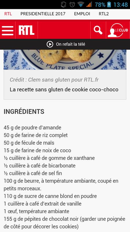 cookies sans gluten recette