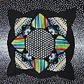 Bloc 12 Mosaique avec kaléidoscopes