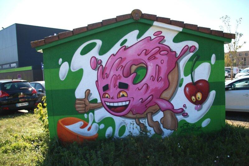 Graffiti sur un transformateur