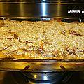 Lasagnes au thon, poireaux et champignons