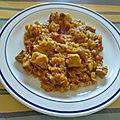 Curry de porc aux lentilles corail et à la tomate