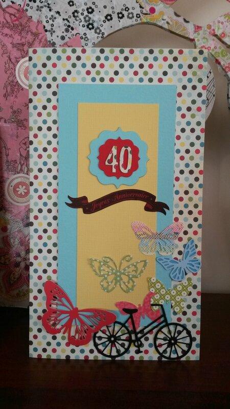 Une carte pour les 40 ans de la maîtresse de ma fille