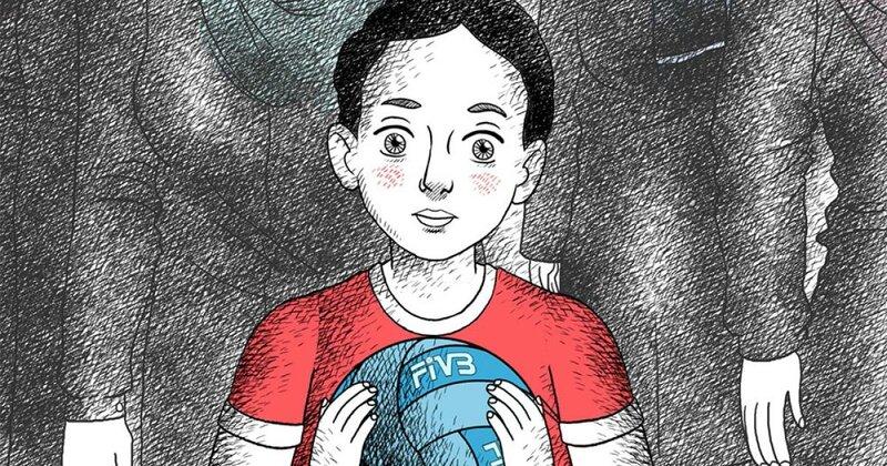 enfant iranien dessin regard persan