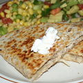 Chausson mexicain et sa salade d'inspiration...