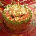 Mon gâteau d'anniversaire au moka