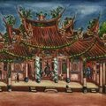 Chen cheng-po (chen chengbo) 1895-1947, in front of the temple (changhua nanyiao temple), 1936