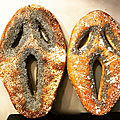 Les scream breads (les fougasses d'halloween)
