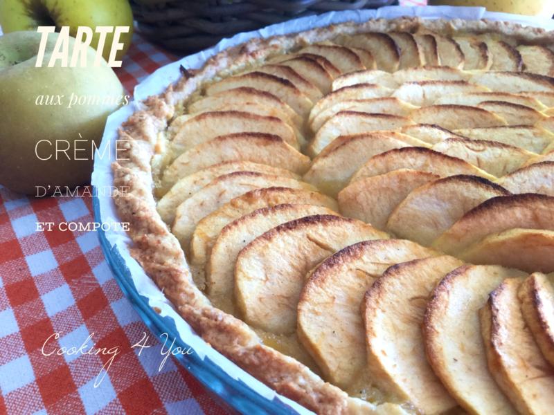 tarte pommes creme d'amande compote 044