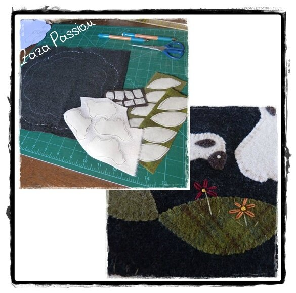 Candle Mat Sheep 01