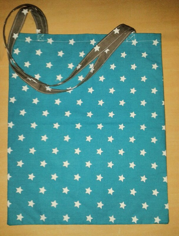 tote bag baskets gris verso turquoise