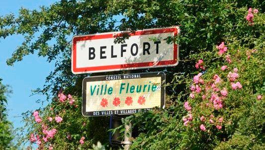 Pancarte Belfort 4 fleurs Régis Antoine R