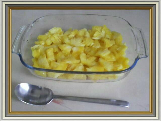 crumble ananas fond ananas