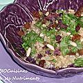 risotto algues raisins pignons
