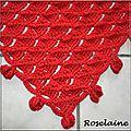 Roselaine70 chèche rouge Phildar