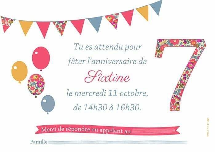 Les 7 ans de Sixtine (10/10/10!) approchent...Des cartons d'invitations personnalisés by MC & SA SOURIS !