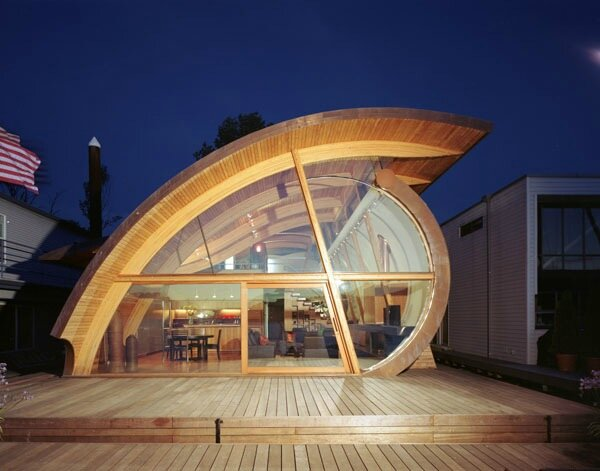 une résidence transparente
