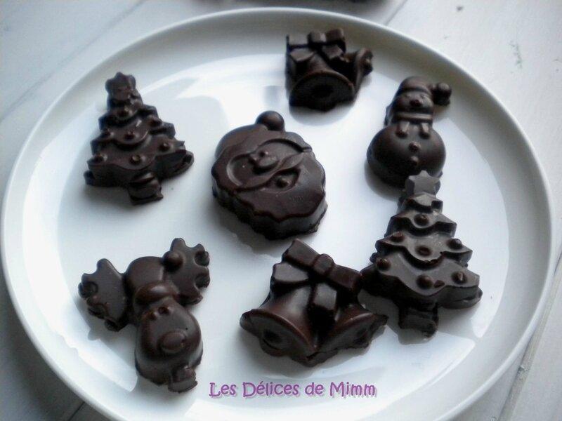 Petits chocolats de Noël aux fruits secs