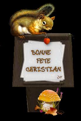 bonne fête christian