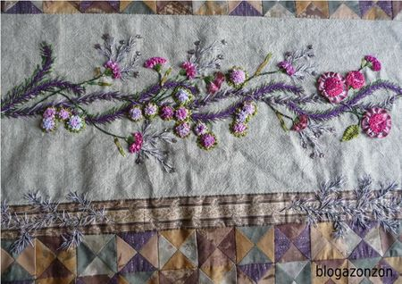 ribbon embroidery quilt