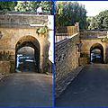 Le pont-canal sur' le canal de lalinde ( 24 dordogne)