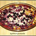 Clafouti cassis - amandes