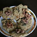Crackers aux noix avoine et huile d'olive