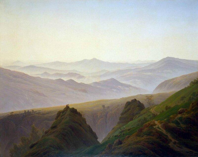 Caspar-David-Friedrich-Morning-in-the-Mountains-