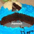 gâteau Ile déserte coupé