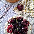 Tartelettes abricot , mascarpone et cerise