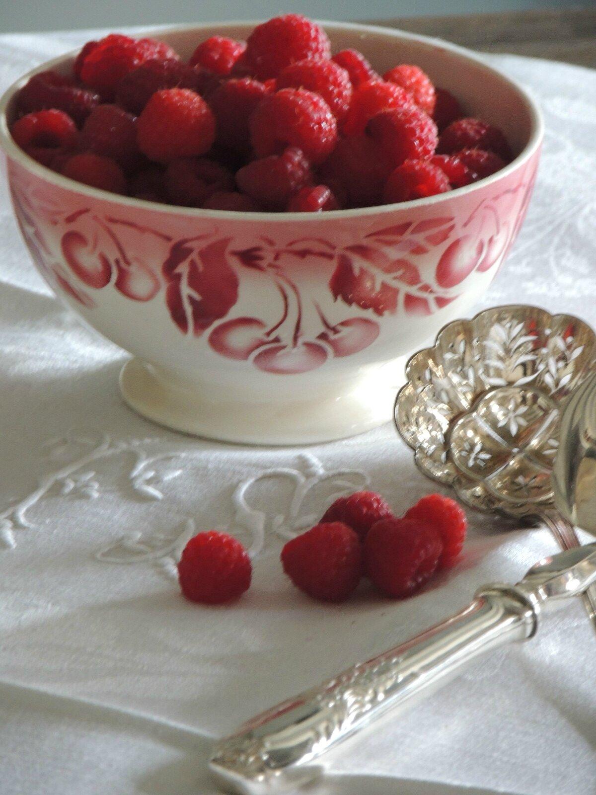 bol digoin décor de fruits