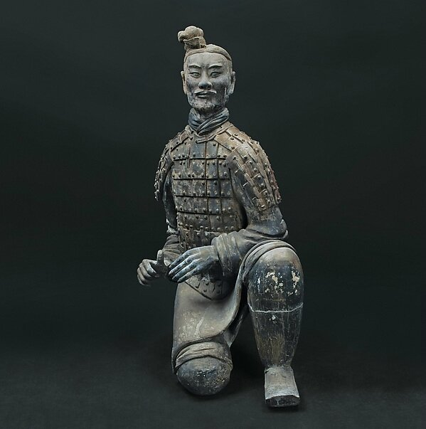Dynasty Chinese Archaic precious Song Dy Bronze warrior/'s Helmet statue