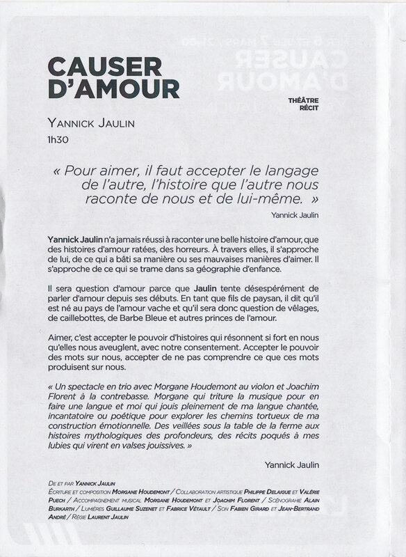 Yannick Jaulin - Causer d'amour 2