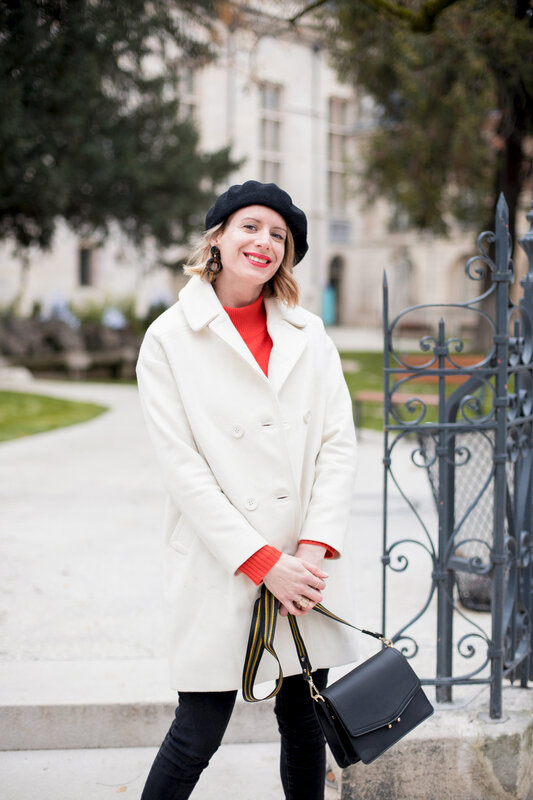 White coat and red knit -styliz (8)