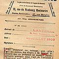 L'argus de la presse . 1909.la lanterne.