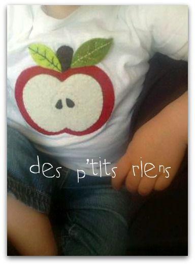 tee shirt pomme à croquer