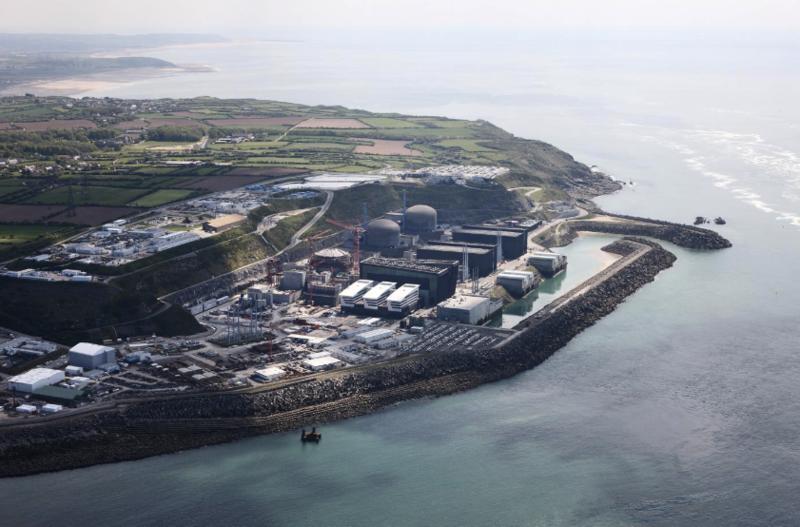 centrale nucléaire EPR site Flamanville Manche EDF photo